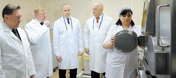 Встреча врачей центра ПЭТ КТ в Курске с Анатолием Чубайсом.